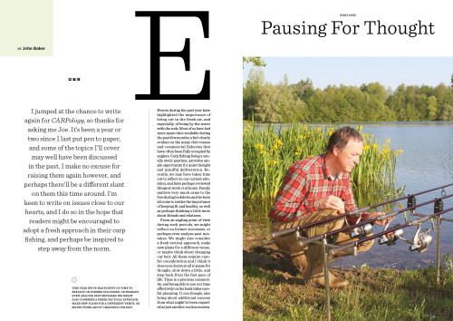 Carpology Magazine Articles by John Baker
